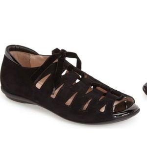 Beautifeel Nubuck Lace Up Sandals Wedge Gladiator